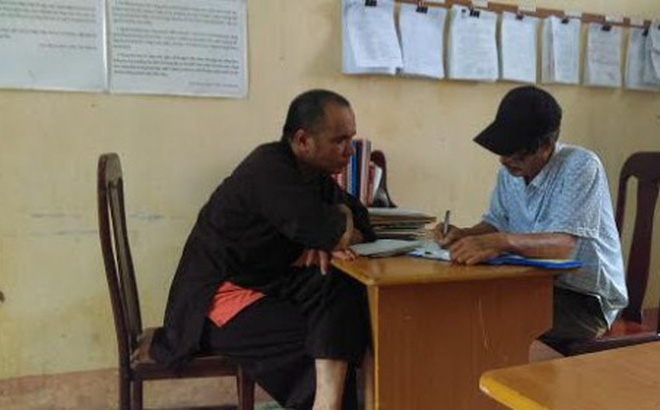 Nguyễn Văn Bằng tại cơ quan Công an