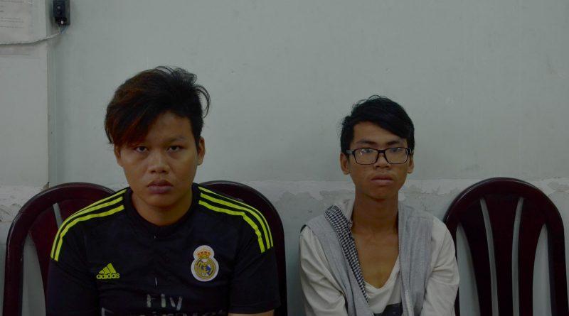 Hai đối tượng bị bắt giữ tại cơ quan Công an