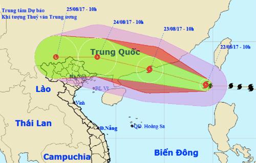 Do ảnh hưởng của bão số 6 miền Bắc sẽ có mưa to