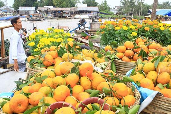 Không chỉ thu hút khách du lịch khám phá, nơi đây còn là chợ đầu mối buôn bán lớn của đồng bằng sông CỬU Long