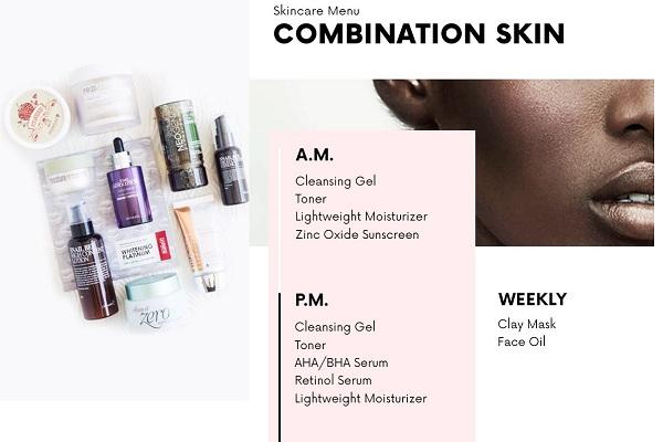 Với làn da hỗn hợp, cách chăm sóc làm đẹp da tại nhà sẽ không phức tạp như bạn nghĩ mà chỉ đơn giản là tìm một routine phù hợp trung hòa giữa da dầu và da khô