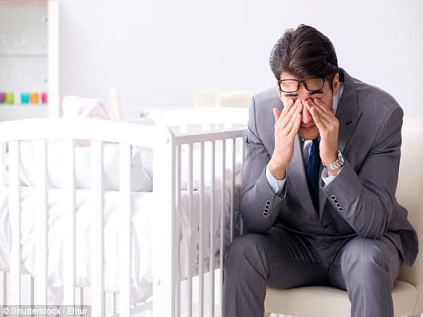 Không ít đàn ông trầm cảm sau khi lên chức bố.