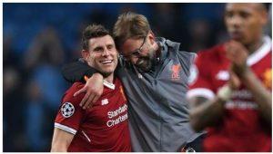 Milner trong màu áo Liverpool