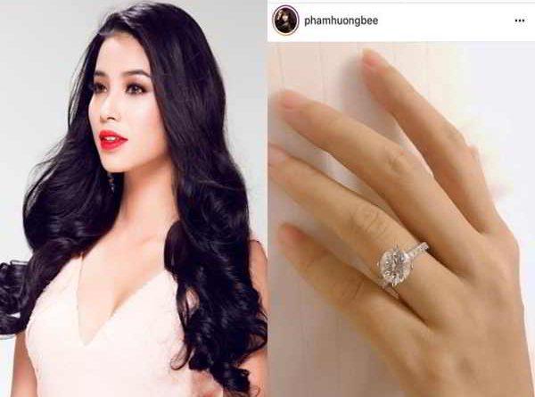 Hoa hậu Phạm Hương công khai đã đính hôn vào ngày Valentine