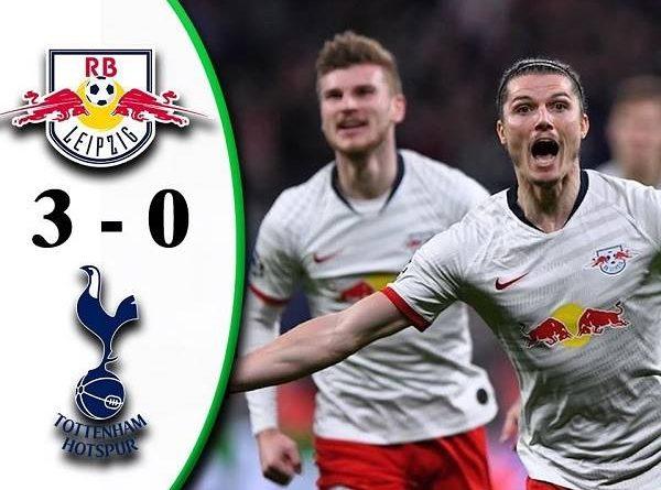 Điểm nhấn Leipzig 3-0 Tottenham: Đương kim Á Quân bị loại