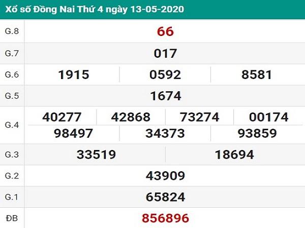 Chốt dự đoán KQXSDN- kết quả xổ số đồng nai thứ 4 ngày 20/05
