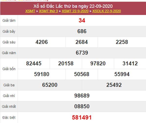 Thống kê XSDLK 29/9/2020 chốt số ĐăkLắc thứ 3 siêu chuẩn