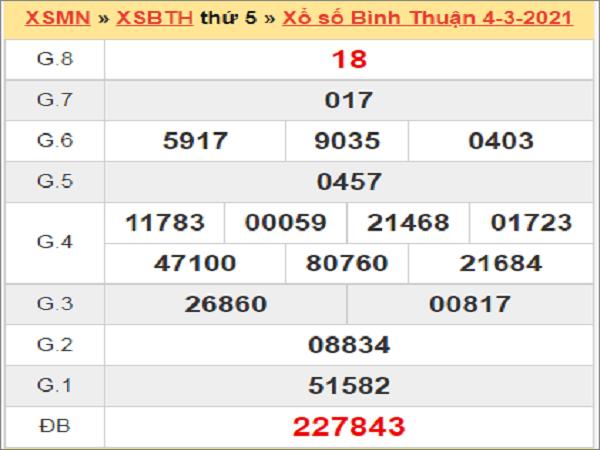 Soi cầu XSBTH 11/3/2021