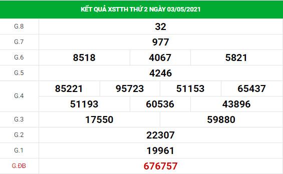 Phân tích kết quả XS Thừa Thiên Huế ngày 10/05/2021