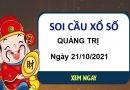 Soi cầu xổ số Quảng Trị ngày 21/10/2021 hôm nay thứ 5